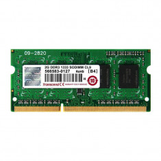 Memorie laptop Transcend 2GB DDR3 1333 MHz CL9 - Memorie RAM laptop