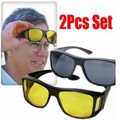 OFERTA UNICA! OCHELARI PT.CONDUS CU PROTECTIE UV HD VISION,2 PERECHI NOAPTE+ZI !