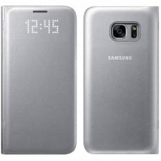 Husa Flip Cover Samsung pentru Galaxy S7 G930 Argintiu