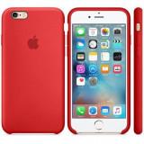 Husa Protectie Spate Apple Silicone Case Rosie pentru tiPhone 6s plus - Husa Telefon