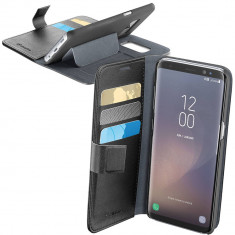 Husa Flip Cover Cellularline BOOKAGENDAGALS8K Negru pentru SAMSUNG Galaxy S8 - Husa Telefon