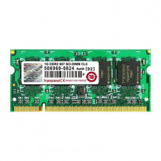 Memorie laptop Transcend 1GB DDR2 667MHz CL5 - Memorie RAM laptop
