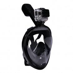Masca Snorkeling full-face Easy Breath S/M si L/XL pentru GoPro, SJCAM, Xiaomi GP280