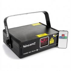 Beamz Thebe Laser-Show 150mW roș 9-DMX Master/Slave IR telecomandă - Laser lumini club