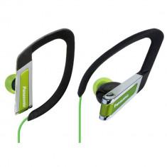 Casti Panasonic RP-HS33E-G Black / Green, Casti In Ear, Cu fir, Mufa 3, 5mm