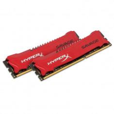 Memorie HyperX Savage Red 16GB DDR3 1866 MHz CL9 Dual Channel Kit - Memorie RAM Kingston
