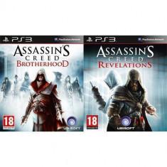 Joc consola Ubisoft Pachet PS3 Assassins Creed Revelations + Brotherhood - Jocuri PS3 Ubisoft, Actiune, 18+