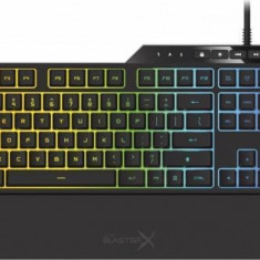 Tastatura Gaming Mecanica Creative Sound BlasterX VANGUARD K08 RGB Black - Tastatura PC, Cu fir, USB