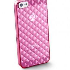 Husa Protectie Spate Cellularline GLAMIPHONE5P Roz pentru APPLE iPhone 5s, iPhone SE - Husa Telefon