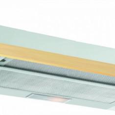Hota incorporabila telescopica Pyramis SILVER SLIDING WOOD 2 motoare 3 viteze 352mc/h 90Cm Front din lemn natur, 61-90 cm, Numar motoare: 2, Inox