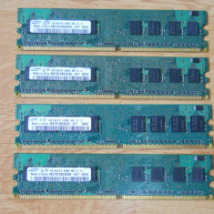 Kit Memorie Ram Samsung 4 GB (4X1) 800 Mhz DDR2 Desktop., Dual channel