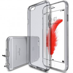 Husa Protectie Spate Ringke Air Smoke Black plus folie protectie display pentru Apple iPhone 6 / 6S - Husa Telefon Ringke, Plastic, Carcasa