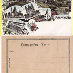 Cernauti, Bucovina - litografie -editura Knorr - Carte Postala Bucovina pana la 1904, Necirculata, Printata