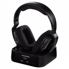 Casti Thomson Over-Head WHP5311 Wireless Black, Casti On Ear, Bluetooth, Active Noise Cancelling