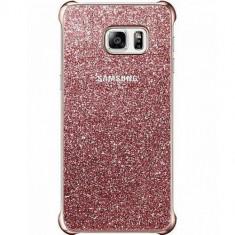 Husa Protectie Spate Samsung Glitter Roza pentru Samsung Galaxy S6 Edge Plus