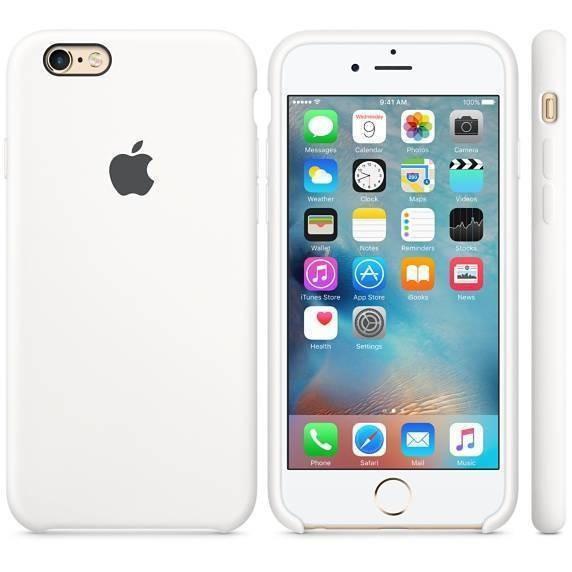 Husa Protectie Spate Apple Silicone Case Alba pentru tiPhone 6s foto mare