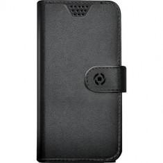 Husa Flip Cover Celly 100449 Agenda Unica M neagra - Husa Telefon