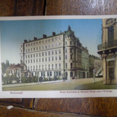 Hotel Bulevard, CP ilustrata - Harta Europei