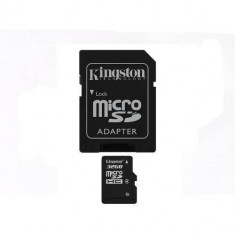 Card Kingston Micro SDHC 32GB Clasa 4 + adaptor SD SDC4/32GB - Card memorie