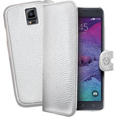 Husa Flip Cover Celly 106436 Ambo alba plus capac spate detasabil pentru Samsung Galaxy Note 4 - Husa Telefon