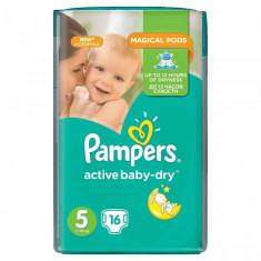 Scutece PAMPERS Active Baby 5 Junior Regular Care 16 buc - Scutece unica folosinta copii