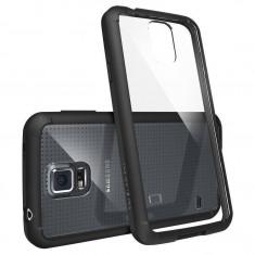 Husa Protectie Spate Ringke FUSION neagra plus folie protectie pentru Samsung Galaxy S5 - Husa Telefon
