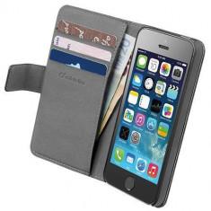 Husa Flip Cover Cellularline BOOKAGENDAIPH5SBK Agenda Negru pentru Apple iPhone 5s, iPhone SE