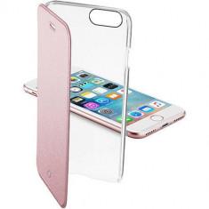Husa Flip Cover Cellularline CLEARBOOKIPH747P Agenda Clear Roz pentru Apple iPhone 7 - Husa Telefon