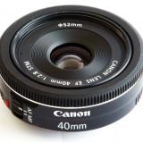 Obiectiv Canon EF 40mm f/2.8 STM - Obiectiv DSLR Canon, Autofocus, Canon - EF/EF-S