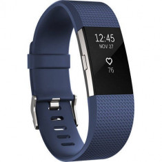 Bratara Fitness Fitbit Charge 2 S Silver Blue