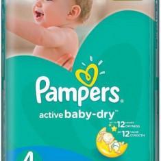 Scutece PAMPERS Active Baby 4 Giant Pack 76 buc - Scutece unica folosinta copii