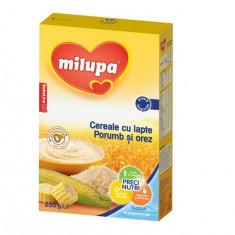 Cereale copii MILUPA cu lapte porumb si orez 250g de la 4 luni