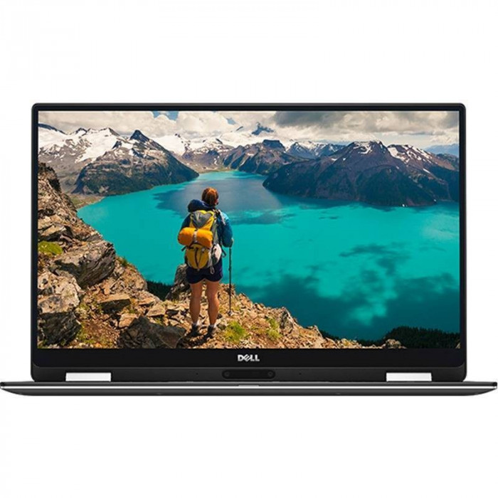 Laptop Dell XPS 13 9365 13.3 inch Quad HD+ Touch Intel Core i7-7Y75 8GB DDR3 512GB SSD Windows 10 Pro Silver foto mare