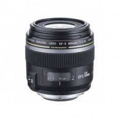 Obiectiv Canon EF-S 60mm f/2.8 Macro USM (1:1) - Obiectiv DSLR Canon, Macro (1:1), Autofocus, Canon - EF/EF-S