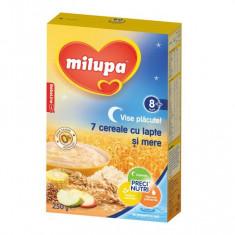 Cereale copii MILUPA Vise placute 7 Cereale cu lapte si mere 250g de la 8 luni