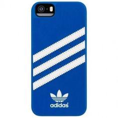 Husa Protectie Spate Adidas 15665 Moulded Case albastru / alb pentru Apple iPhone 5 / 5S - Husa Telefon Apple, iPhone 5/5S/SE, Plastic, Carcasa