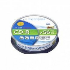CD-R Esperanza 700 MB 52x 10 bucati Silver - CD Blank