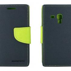 Husa Flip Cover Goospery YFSAMGS3MAL My-Fancy albastru / lime pentru Samsung Galaxy S3 Mini I8190