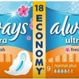Absorbante ALWAYS Ultra Fresh Duo 18 bucati