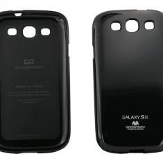 Husa Protectie Spate Goospery YJSAMGS3NEG My-Jelly neagra pentru Samsung Galaxy S3 I9300 - Husa Telefon
