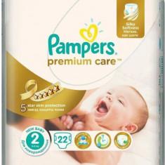 Scutece PAMPERS Premium Care 2 Mini Small Pack 22 buc - Scutece unica folosinta copii