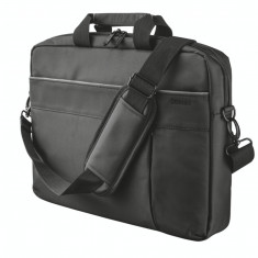 Geanta laptop Trust Rio 16 inch black, Nailon, Negru
