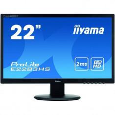 Monitor LED Iiyama ProLite E2283HS-B1 21.5 inch 2ms Black, 21 inch