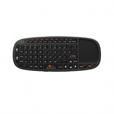Mini tastatura wireless cu mouse si telecomanda Rii tek i10 Black