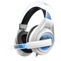 Casti gaming Somic Senicc G241 White - Casca PC Somic, USB