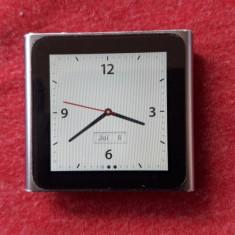 iPod Nano Apple16Gb 6th Gen (A24) BUTON Pornire defect MultitouchClip, 6th generation, Argintiu