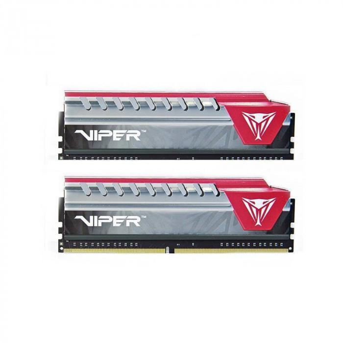 Memorie Patriot Viper Elite Red 8GB DDR4 2400 MHz CL15 Dual Channel Kit foto mare