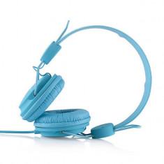 Casti Modecom MC-400 Frutty Blue, Casti On Ear, Cu fir, Mufa 3, 5mm