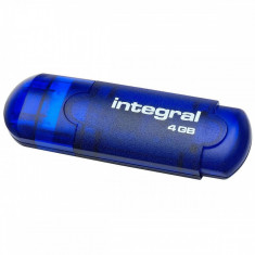 Memorie USB Integral Evo 4GB blue - Stick USB Integral, USB 2.0