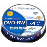 Mediu optic Esperanza DVD+RW 4.7GB 4x cake box 10 bucati
